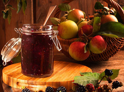 Charming Cottage Photograph - Blackberry And Apple Jam by Amanda Elwell