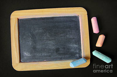 Clipping Photograph - Blackboard Chalk by Carlos Caetano