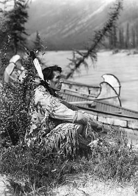 Blackfoot River Photograph - Blackfoot Indian by Swarbrick