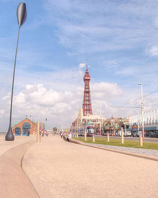 Blackpool Tower And Oar Art Print by Sarah Couzens