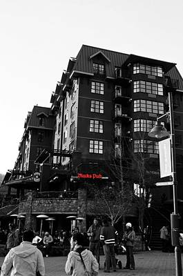 Print featuring the photograph Blacks Pub Whistler Canada by JM Photography