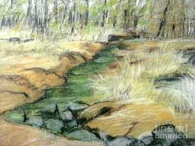 Pastel - Black's Winter Creek by Gretchen Allen