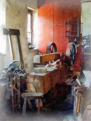 Hammers Photograph - Blacksmith Shop Near Windows by Susan Savad