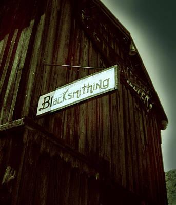 Calico Photograph - Blacksmithing by Gabe Arroyo
