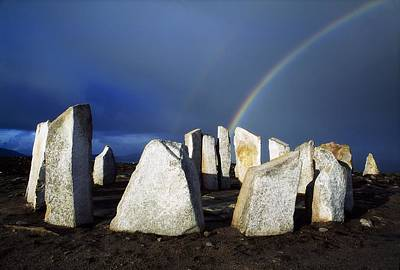 Megalith Photograph - Blacksod Point, County Mayo, Ireland by The Irish Image Collection