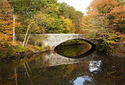 Blackstone Valley River Bridge Art Print by Jenna Szerlag
