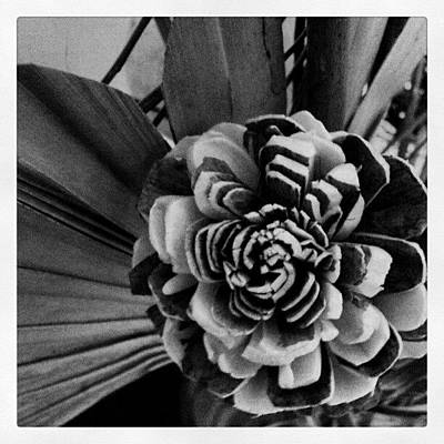 Bouquet Photograph - #blackwhite #flower #arrangement #dried by Jess Gowan