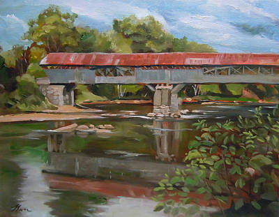 Painting - Blair Bridge Campton New Hampshire by Nancy Griswold