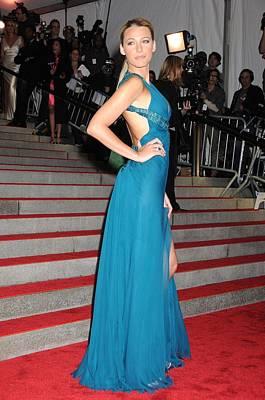 Blake Lively Wearing A Versace Dress Art Print by Everett