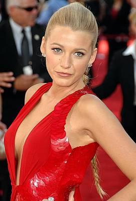 Versace Photograph - Blake Lively Wearing A Versace Gown by Everett