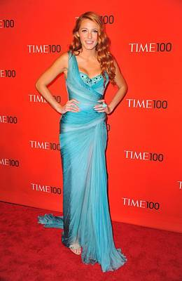 Gathered Dress Photograph - Blake Lively Wearing A Zuhair Murad by Everett