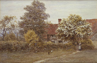 William Blake Painting - Blake's House Hampstead Heath by Helen Allingham
