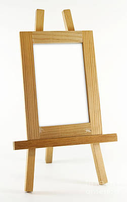 Blank Vertical Wood Frame Art Print by Blink Images