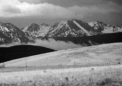 Photograph - Blaze Mountain Spanish Peaks by C Sitton
