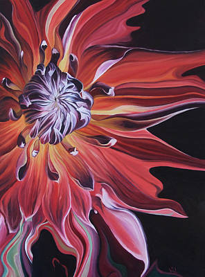 Painting - Blazing Bloom by Karen Hurst