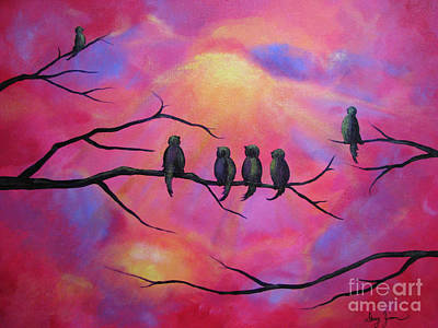 Blazing Ruby Sky Art Print by Stacey Zimmerman