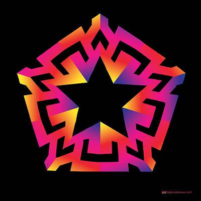 Digital Art - Blazing Star by Eric Edelman