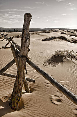 Sand Fences Photograph - Bleak by Heather Applegate