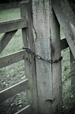 Photograph - Bleak Old Gate Chained Closed by Ethiriel  Photography