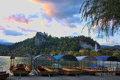 Photograph - Bled Castle Sunrise by Crystal Nederman