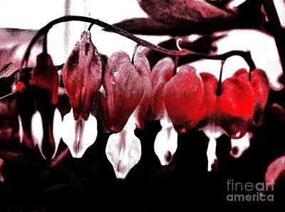 Abstract Hearts Digital Art - Bleeding Hearts For Broken Heart by Marsha Heiken