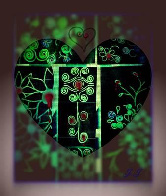 Bleeding Hearts Art Print by Jan Steadman-Jackson