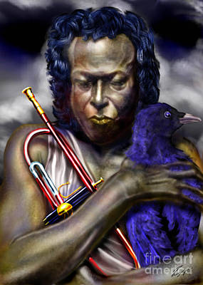 Blessings And Curses - Miles Davis Art Print by Reggie Duffie