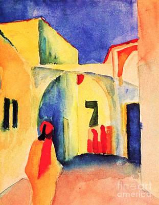 Painting - Blick In Eine Gasse by Pg Reproductions