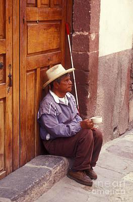 Photograph - Blind Beggar San Miguel De Allende Mexico by John  Mitchell
