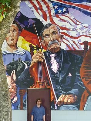 Painting - Blind Fiddler by Tim  Heimdal