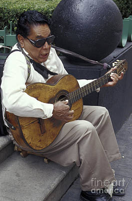 Photograph - Blind Street Musician Mexico City by John  Mitchell