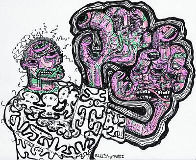 Abstract Expressionism Drawing - Blind Taste Test by Robert Wolverton Jr