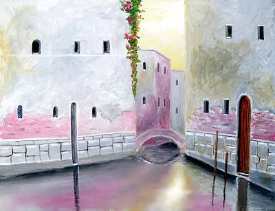 Venice Painting - Blissful Reflections Of Venice by Larry Cirigliano