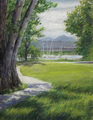 Small Boat Pastel - Blke Trail 1 by Susan Driver
