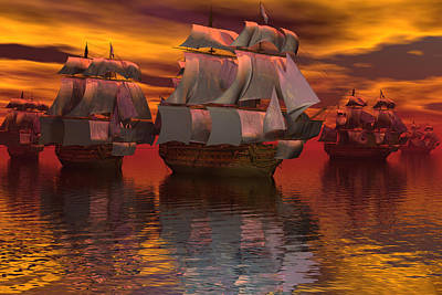 Digital Art - Blockade At Yorktown by Claude McCoy