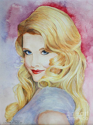 Painting - Blond Pinup  by Terri Maddin-Miller
