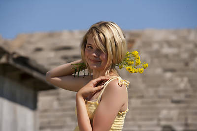 Photograph - Blonde Cutie by Waywardimages Waywardimages