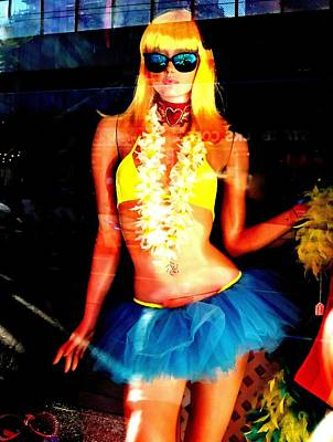 Blonde Bombshell Photograph - Blonde Luau by Randall Weidner