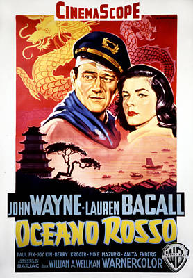 Blood Alley, John Wayne, Lauren Bacall Print by Everett