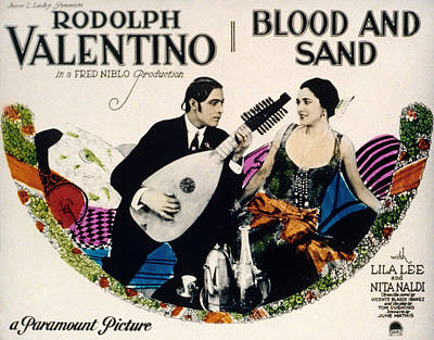 Blood And Sand, Rudolph Valentino, Nita Art Print