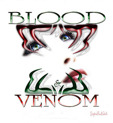 Blood And Venom Tattoo Art Print by Stephen Paul West