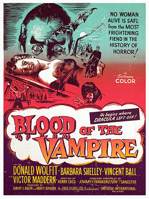 Blood Of The Vampire, Donald Wolfit Art Print by Everett