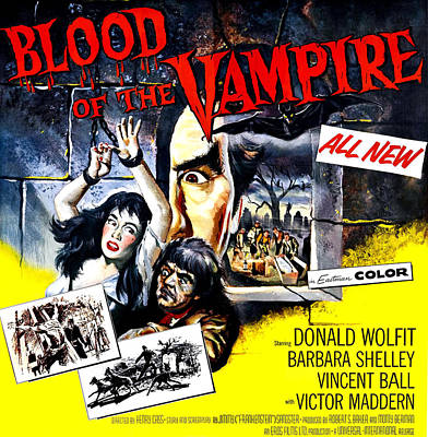 Blood Of The Vampire, From Left Barbara Art Print