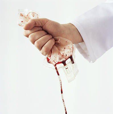 Blood Transfusion, Conceptual Image Print by Kevin Curtis