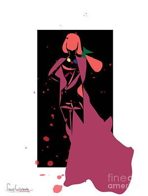 Bloody Fashion 888- Artwork Art Print