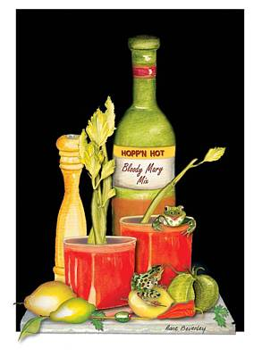 Art Print featuring the painting Bloody Mary by Anne Beverley-Stamps