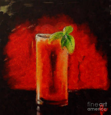 Bloody Mary Painting - Bloody Mary Coctail by Dragica  Micki Fortuna