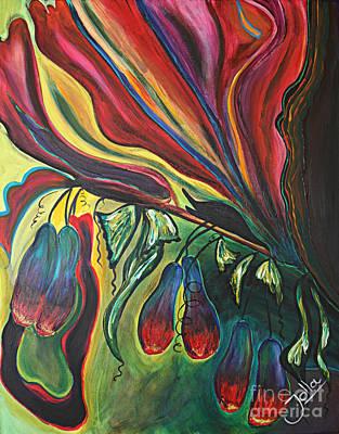 Painting - Blooming Expressions... by Jolanta Anna Karolska
