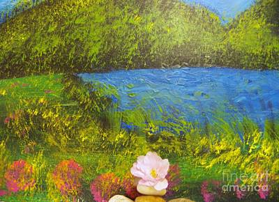 Painting - Blossom Lake by Judy Via-Wolff