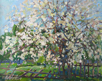 Blossoming Apple Tree Art Print by Juliya Zhukova